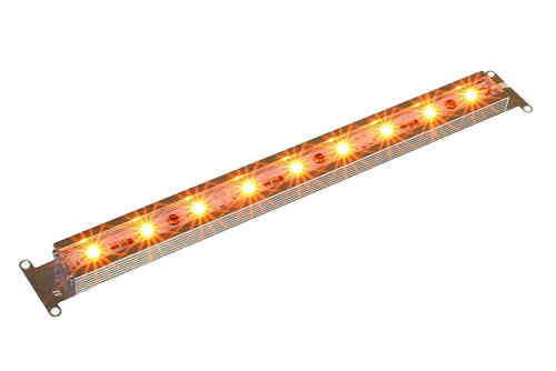 LED Pflanzenlampe / Grow Light 9Watt orange 34cm