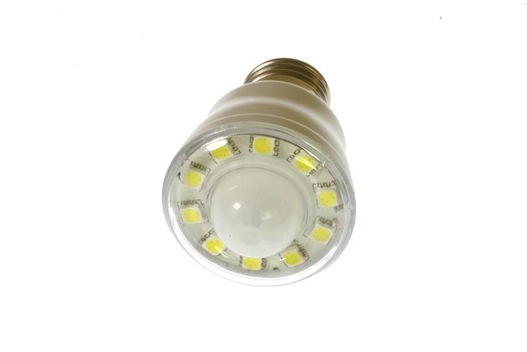 led sensorlampe e27 1 8 w 230v klar kaltweiss led leuchtmittel. Black Bedroom Furniture Sets. Home Design Ideas