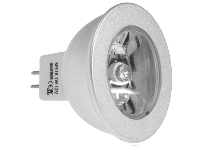 LED Spot MR16/GU5.3 1W 12V tageslichtweiss - LED Leuchtmittel