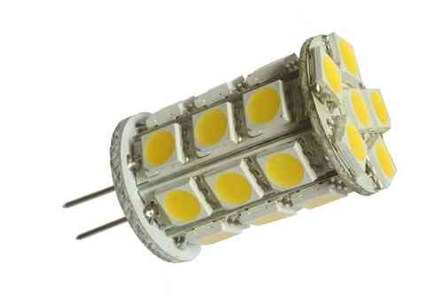 Ampoule LED G4 3W (ca. 25W) 27 LED blanc froid