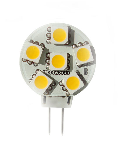 LED Stiftsockellampe G4 1W (ca. 10W) 6 LED warmweiss