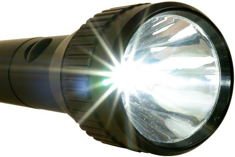 led taschenlampe stablampe 3watt schwarz led lampen. Black Bedroom Furniture Sets. Home Design Ideas