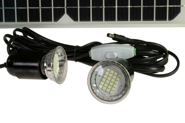 solarset 12 volt 4ah mit 2 led lampen. Black Bedroom Furniture Sets. Home Design Ideas