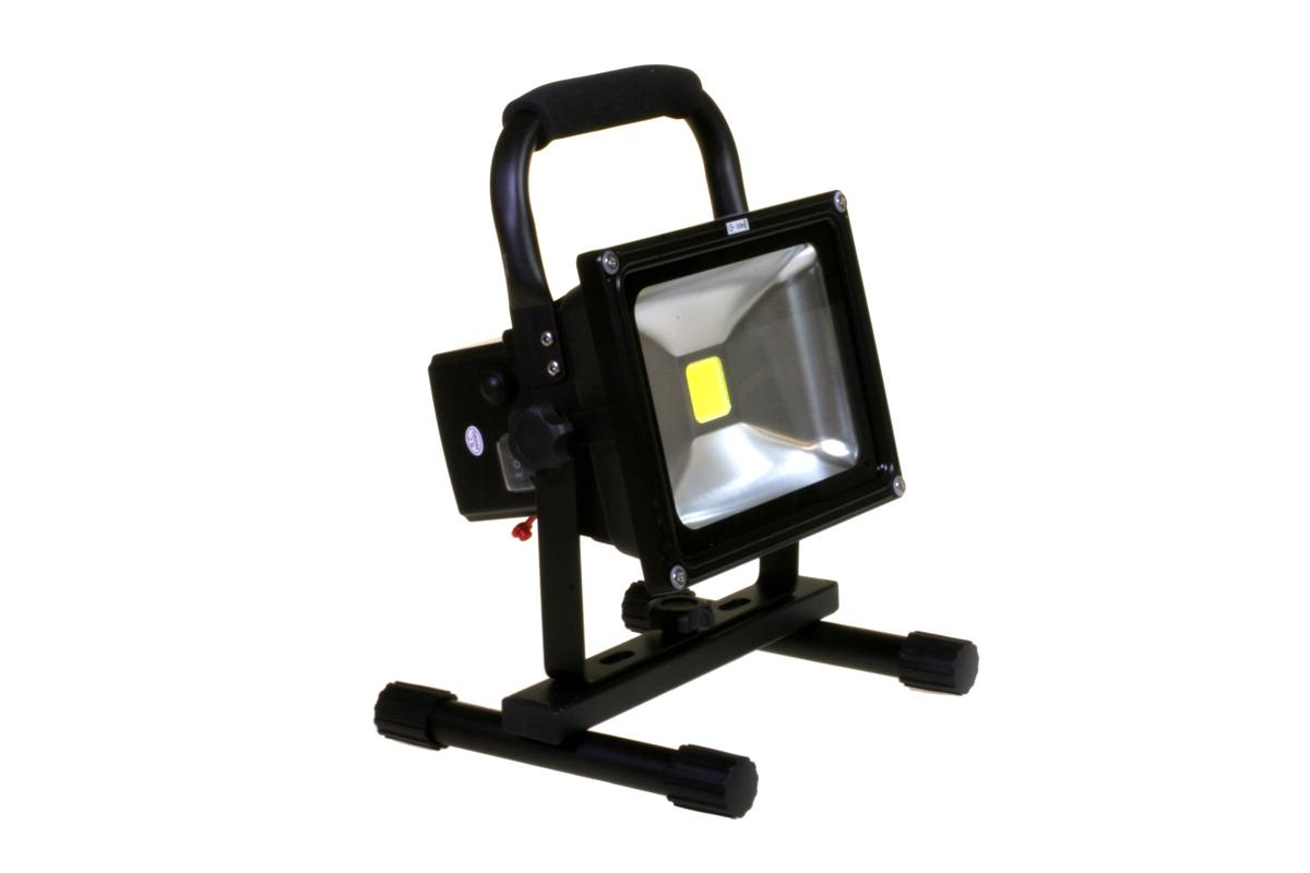 led akku scheinwerfer strahler schwarz 20w led strahler. Black Bedroom Furniture Sets. Home Design Ideas