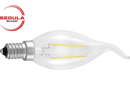 Aktion: LED Filament Kerze Segula E14 2W (ca. 25W) 250lm 2600K Windstoss