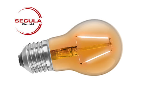 LED Filament Birne Segula für Lichterketten E27 2W 30lm orange