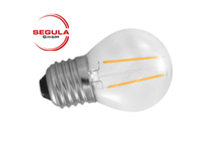 Aktion: LED Filament Kugel Segula E27 2W (ca. 25W) 250lm 2600K klar