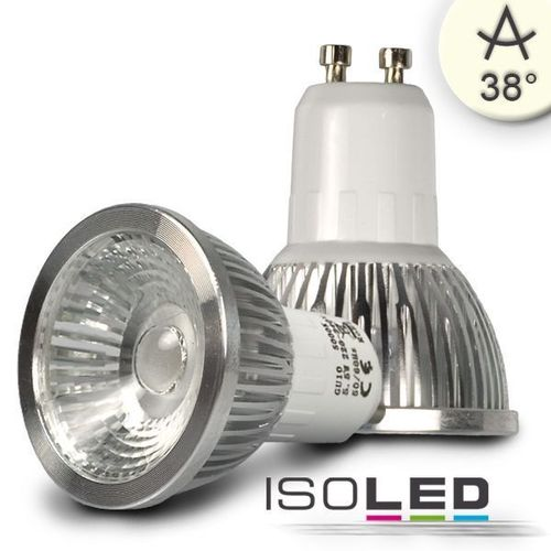 LED Spot GU10 ISOLED 5.5W (ca. 40W) COB 400lm 38° neutralweiss dimmbar