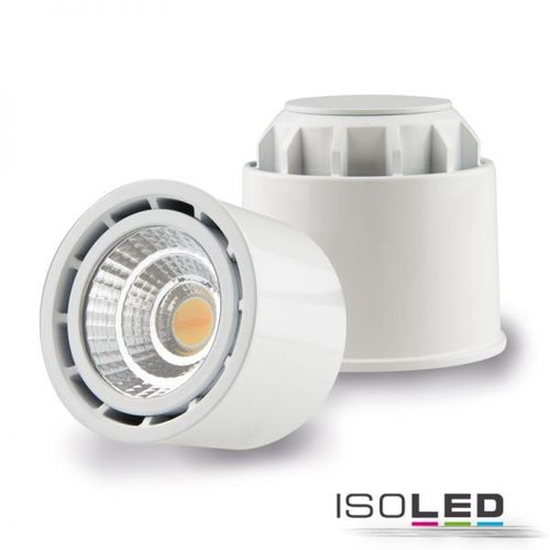 LED Spot GU10 ISOLED weiss 10W (ca. 60W) 650lm 45° CRI99 Sunset dimmbar inkl. Trafo