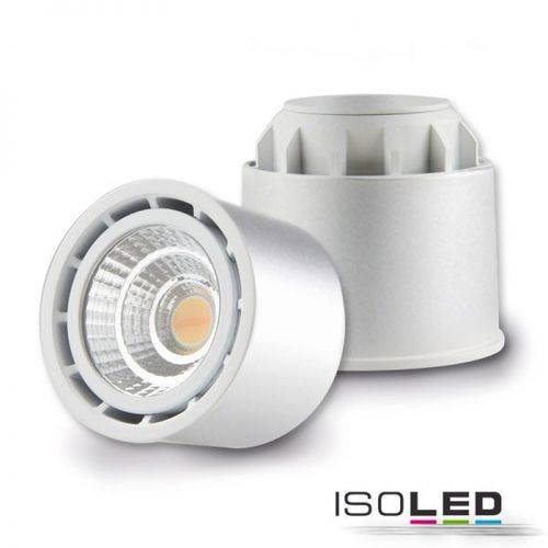 LED Spot GU10 ISOLED silber 10W (ca. 60W) 650lm 45° CRI99 Sunset dimmbar inkl. Trafo