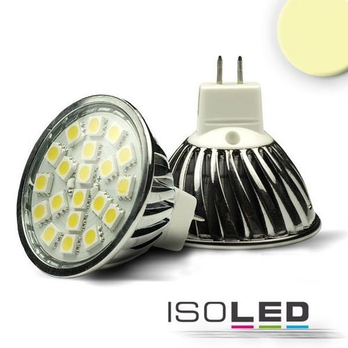 LED Spot MR16 ISOLED 3.6W (ca. 25W) 20SMD 240lm 120° warmweiss