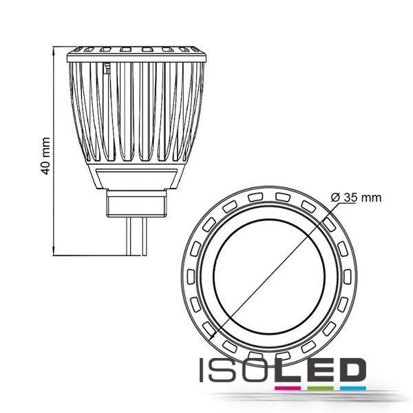 led spot mr11 isoled 4w 210lm 120 warmweiss dimmbar. Black Bedroom Furniture Sets. Home Design Ideas