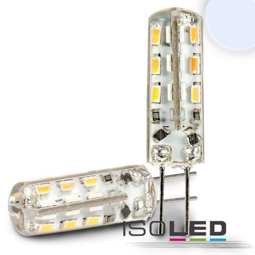 LED Stiftsockellampe G4 ISOLED 2W (ca. 10W) 24SMD 130lm 270° neutralweiss