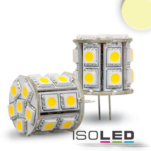 LED Stiftsockellampe G4 ISOLED 4W (ca. 35W) 20SMD 335lm 360° warmweiss