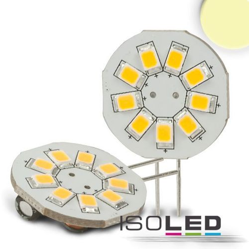 LED Stiftsockellampe G4 ISOLED 1.5W (ca. 10W) 9SMD 130lm 120° warmweiss