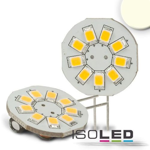 LED Stiftsockellampe G4 ISOLED 1.5W (ca. 10W) 9SMD 150lm 120° neutralweiss