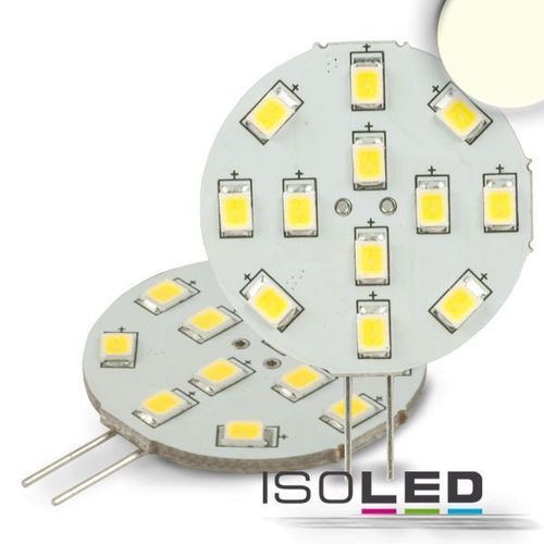 LED Stiftsockellampe G4 ISOLED 2W (ca. 25W) 12SMD 200lm 120° neutralweiss