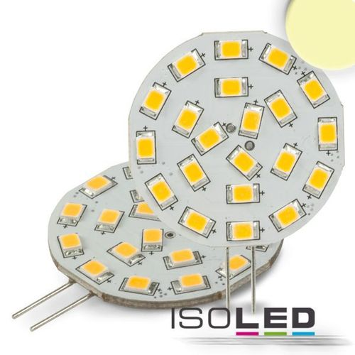 LED Stiftsockellampe G4 ISOLED 3W (ca. 35W) 21SMD 310lm 120° warmweiss