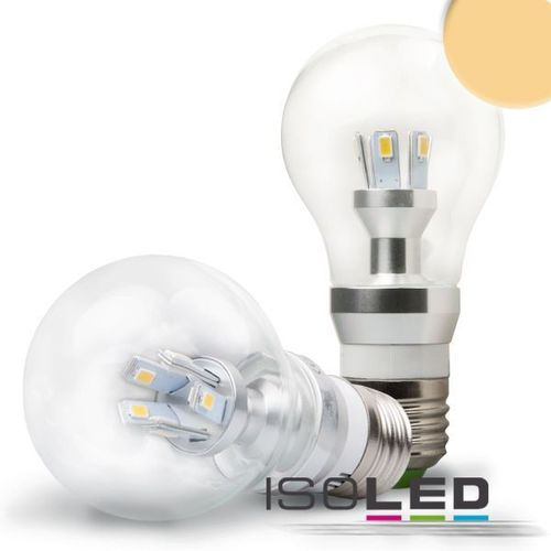 LED Birne E27 ISOLED 5W (ca. 25W) 256lm ultra-warmweiss klar