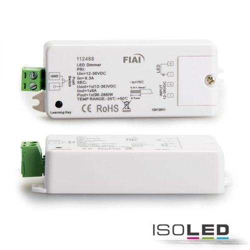Sys-One Funk und Push/Tast Dimmer 2-36V 8A