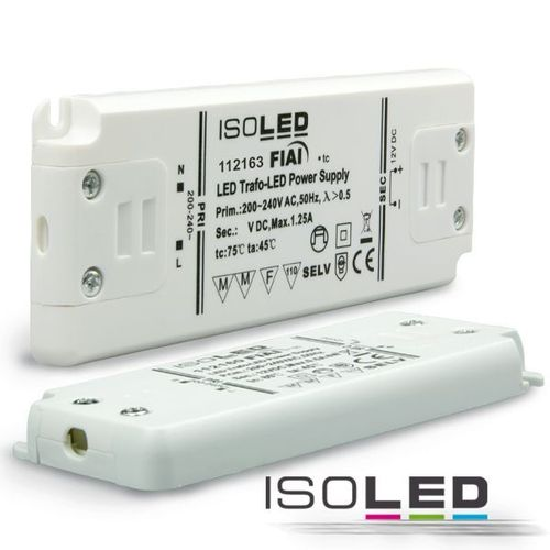Alimentation LED ISOLED 24VDC 0-15W super fines non dimmable