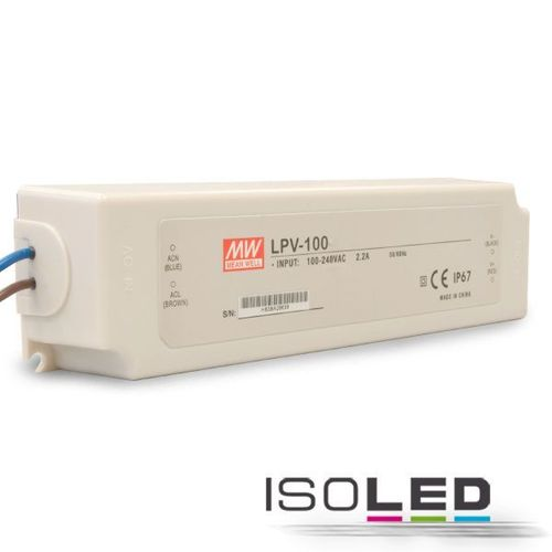 Alimentation LED MEAN WELL LPV-100 24VDC 0-100W IP67 non dimmable