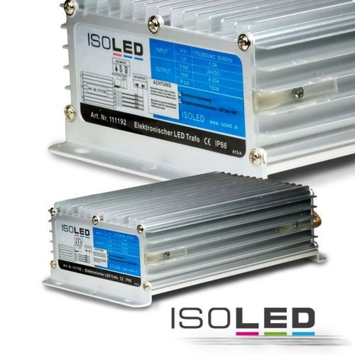 Alimentation LED ISOLED 24VDC 150W IP66 non dimmable