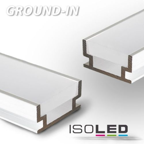 Alu-Einbauprofil ISOLED GROUND-IN begehbar 2000x19.2x8.5mm(LxBxH)