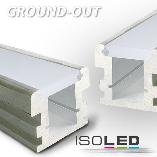 Profilé d'aluminium ISOLED GROUND-OUT 2000x26x26mm(LxBxH)