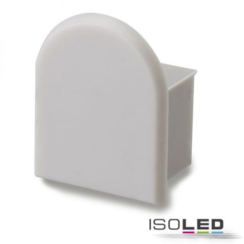 Endkappe PVC grauweiss für Profil ISOLED ECO 3