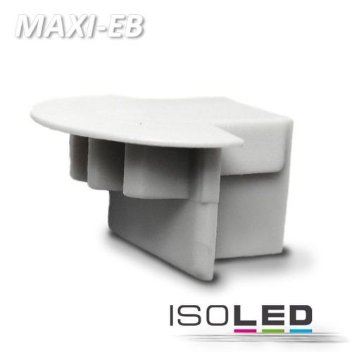 Endkappe PVC silber für Profil ISOLED MAXI-EB