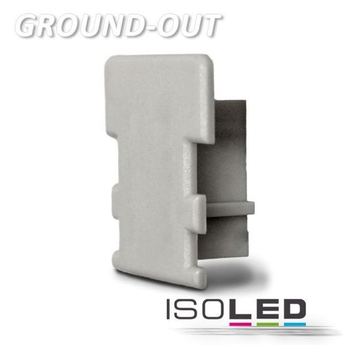 Endkappe PVC silber für Profil ISOLED GROUND-OUT