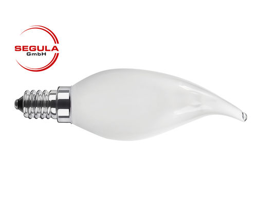 LED Filament Kerze Windstoss Segula 50343 E14 3.5W (ca. 25W) 2600K dimmbar