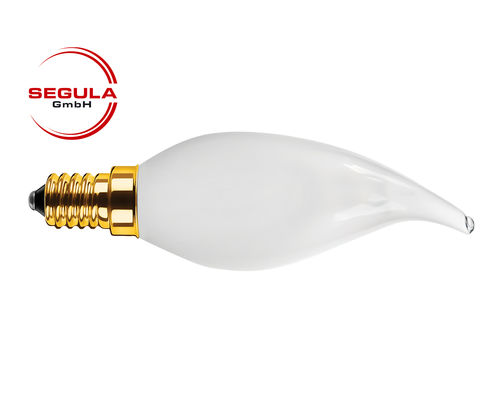 Aktion: LED Filament Kerze Windstoss Segula E14 3.5W (ca. 20W) 2200K matt dimmbar