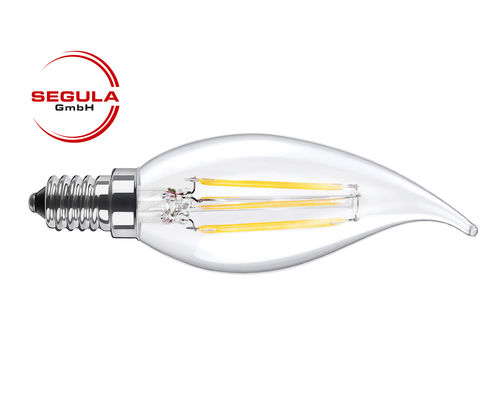 LED Filament Kerze Windstoss Segula 50344 E14 3.5W (ca. 25W) 2600K dimmbar