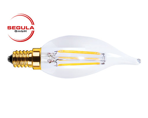 LED Filament Kerze Windstoss Segula 50206 E14 3.5W (ca. 20W) 2200K dimmbar