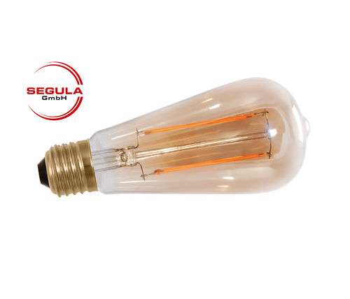 LED Filament Rustika Golden Glass Segula E27 6W (ca. 35W) 400lm 2000K dimm.
