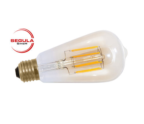 LED Filament Rustika Golden Glass Segula E27 6W (ca. 40W) 470lm 2000K dimm.