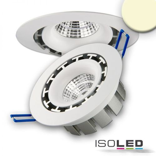 LED Einbaustrahler COB 114mm weiss ISOLED 15W (ca. 75W) warmweiss dimmbar
