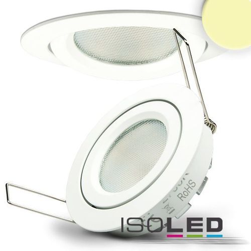 LED Einbaustrahler 82mm weiss ISOLED 8W (ca. 40W) 140° warmweiss dimmbar