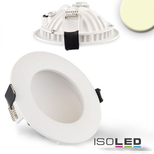 LED Downlight indirekt 105mm weiss ISOLED LUNA 6W (ca. 25W) warmweiss dimm.