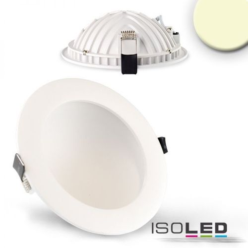 LED Downlight indirekt 150mm weiss ISOLED LUNA 12W (ca. 60W) warmweiss dimm