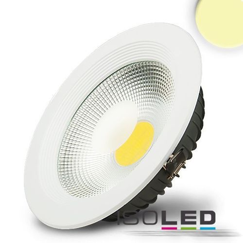 LED COB Reflektor Downlight 225mm weiss ISOLED 30W (ca. 150W) warmweiss
