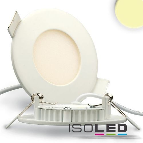 LED Downlight ultraflach 85mm weiss ISOLED 3W (ca. 25W) WW