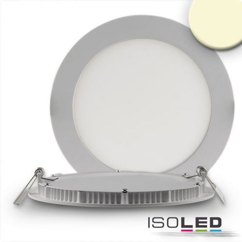 LED Downlight ultraflach 145mm silber ISOLED 9W (ca. 50W) WW dimm.