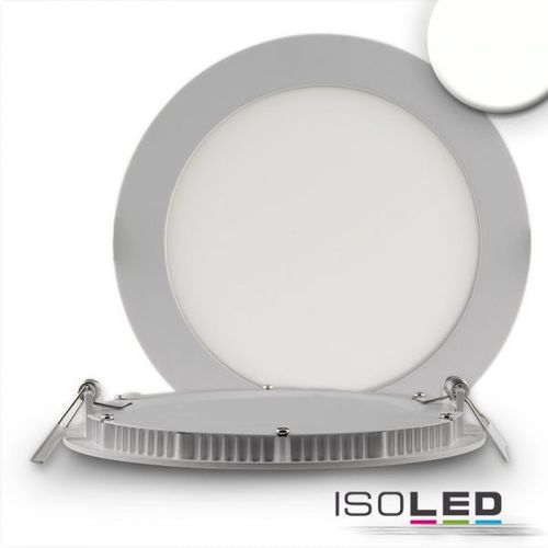 LED Downlight ultraflach 145mm silber ISOLED 9W (ca. 50W) NW dimm.