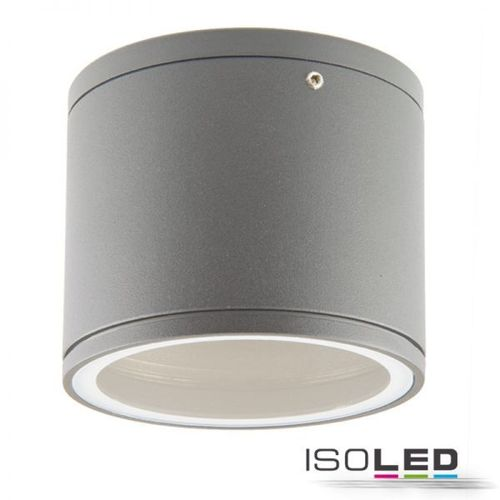 Plafonnier LED argent 108mm ISOLED culot GX53