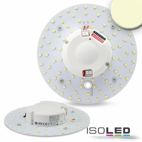 LED Umrüstplatine 160mm mit Magnet & Radarsensor ISOLED 14W (ca. 100W) WW