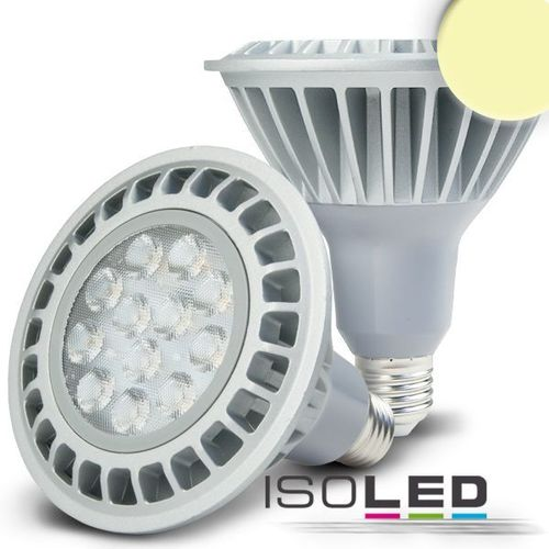 Spot LED E27 ISOLED 15W (ca. 75W) 900lm PAR38 blanc chaud dimm.