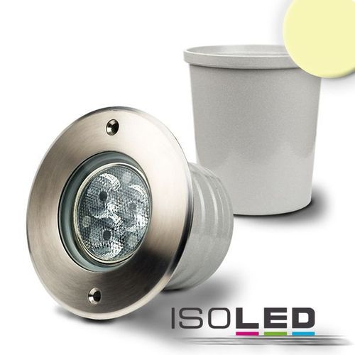 LED Bodeneinbaustrahler IP67 ISOLED 3x3W (ca. 40W) warmweiss